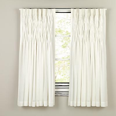Antique Chic Curtain Panels (White)