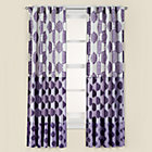"84"" Purple Bazaar Curtain Panel(Sold individually)"