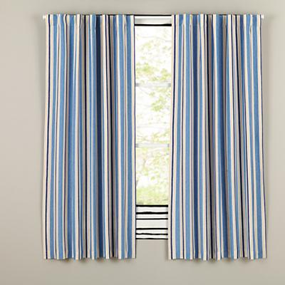 "84"" Side Striped Blackout Curtain"