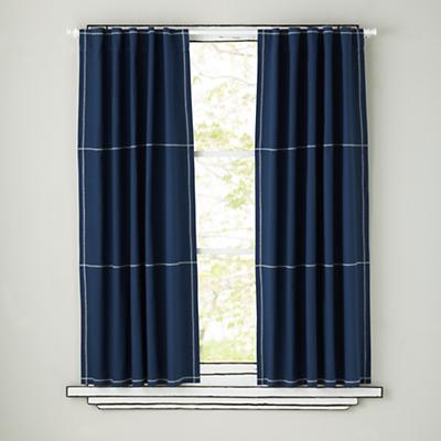 Canvas Curtain Panels (Blue)