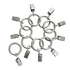 Nickel Curtain Clip RingsSet of 10