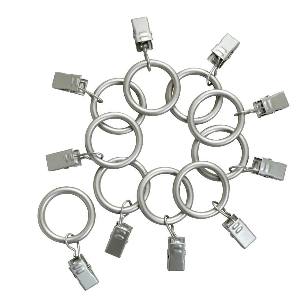Nickel Curtain Clip Rings (Set of 10)