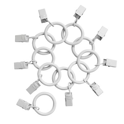 White Curtain Clip Rings (Set of 10)