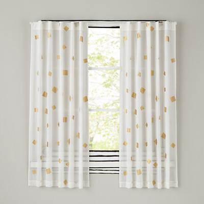 "84"" Gold Confetti Curtain Panel"