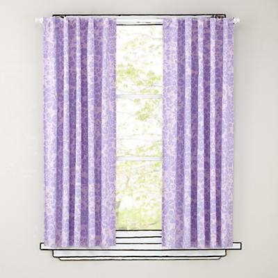 "96"" Lavender Floral Curtain Panels"