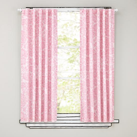 Floral Blackout Curtains Pink The Land Of Nod
