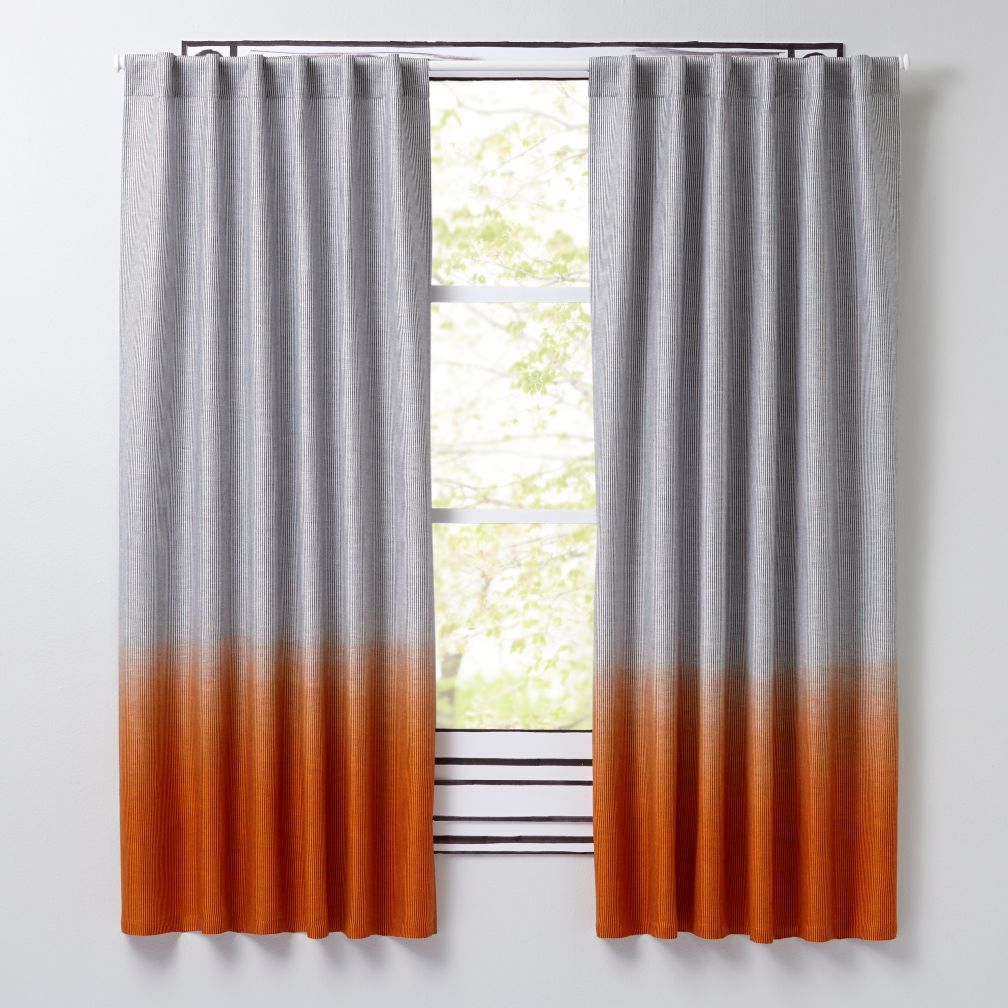 orange and gray curtains - photo #1