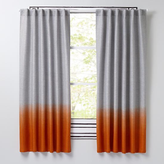 half dipped curtains orange the land of nod