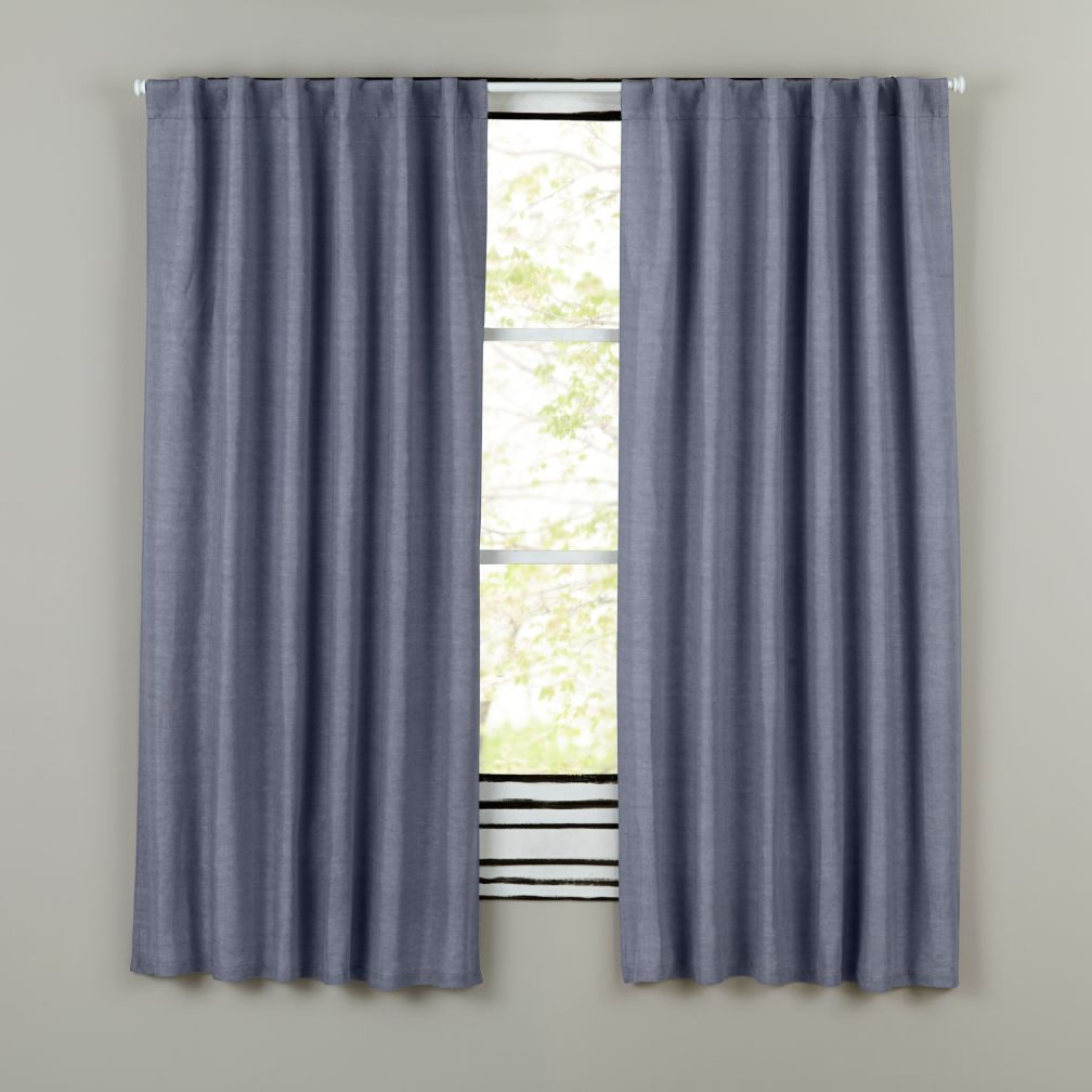 Fresh Linen Curtain Panels (Blue)