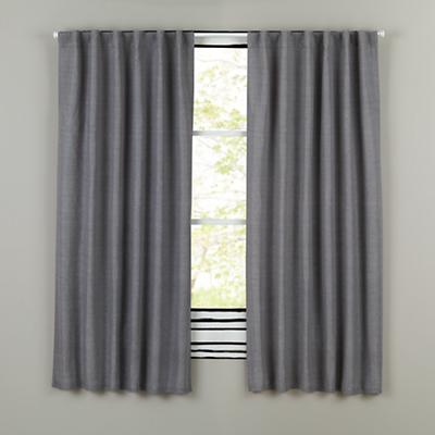 "96"" Fresh Linen Curtain Panel (Grey)"