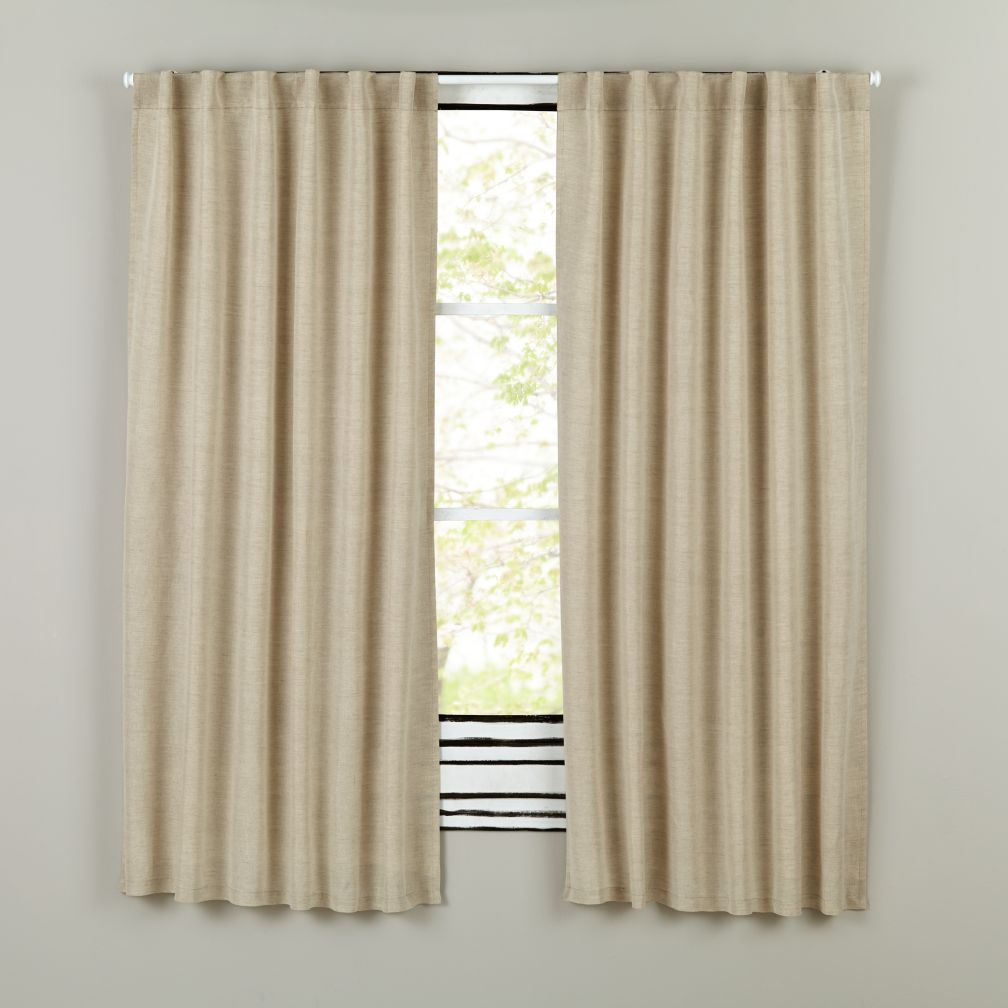 "96"" Fresh Linen Curtain Panel (Natural)"