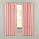 "96"" Pink Fresh Linen Curtain Panel"