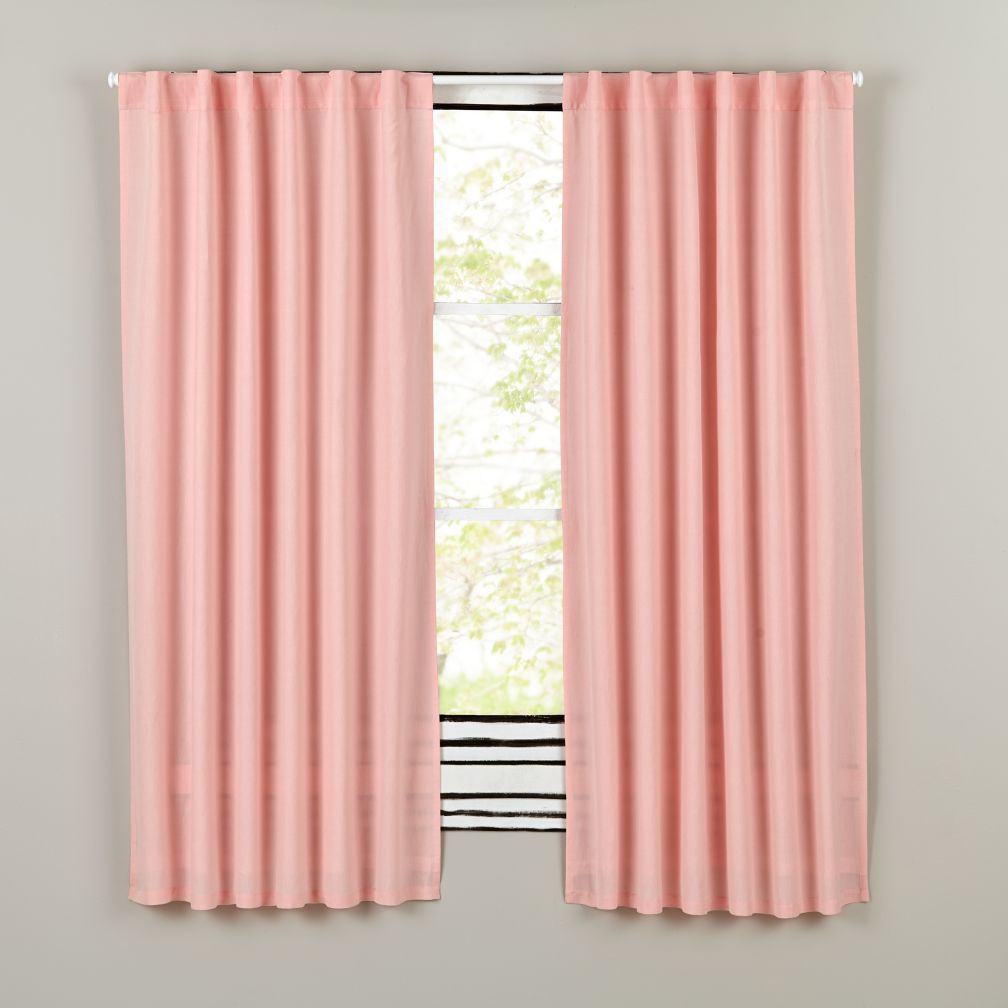 "96"" Fresh Linen Curtain Panel (Pink)"
