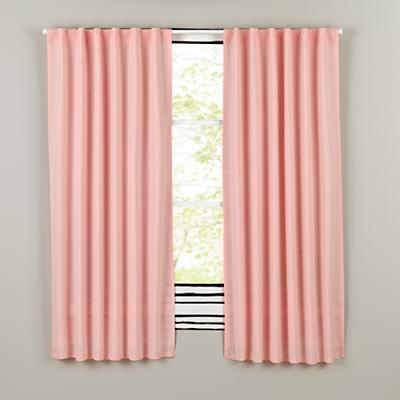 "63"" Fresh Linen Curtain Panel (Pink)"