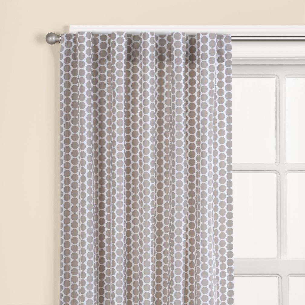"63"" Khaki Dot Curtain Panel<br /><br />(Sold individually)"