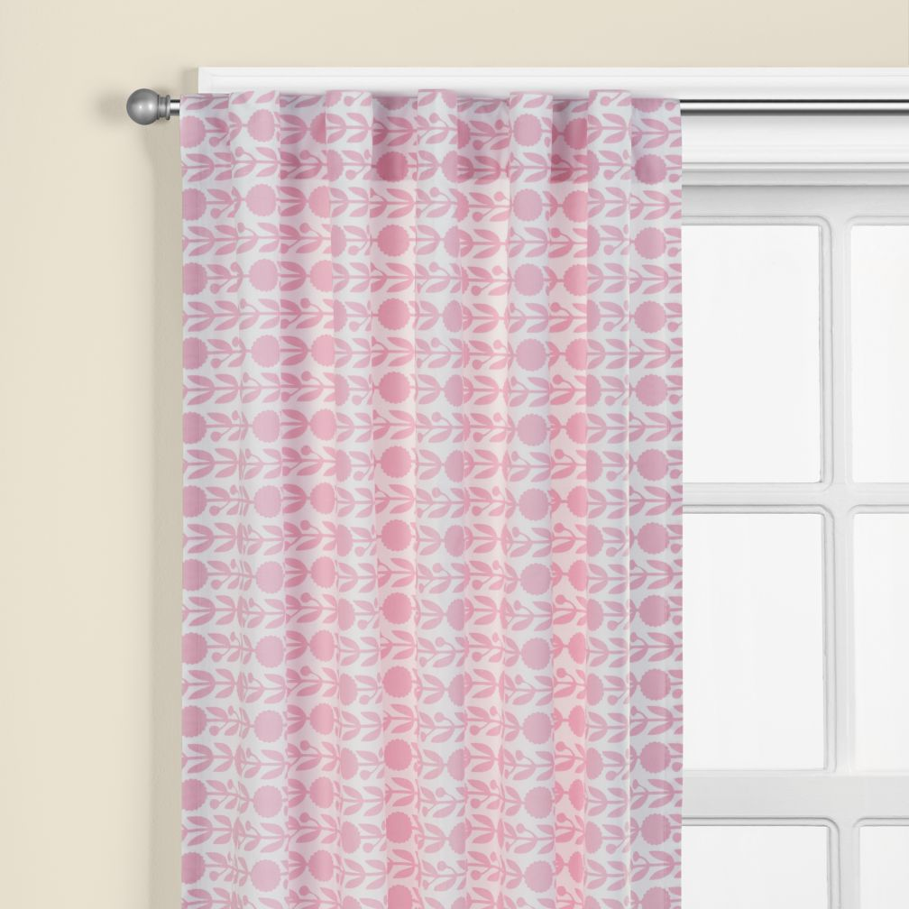 In The Mix Floral Curtain Panels (Pink)