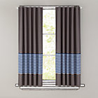 "96"" Blue Striped Curtain(Sold individually)"