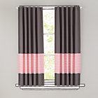 "63"" Pink Striped Curtain(Sold individually)"