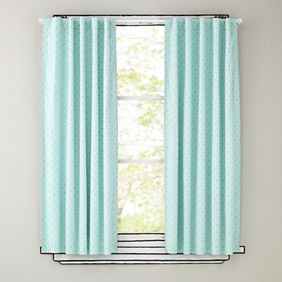 "96"" Aqua Polka Dot Curtain Panels"