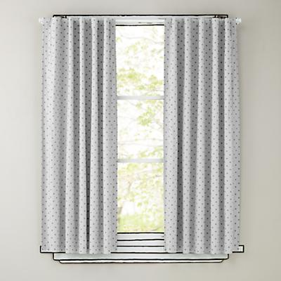 Polka Dot Blackout Curtains (Grey)