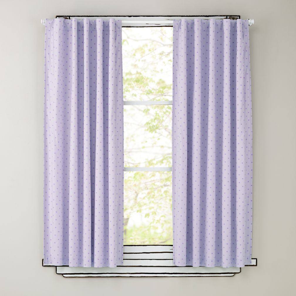 Polka Dot Blackout Curtains (Lavender)