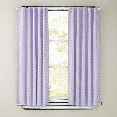 "63"" Lavender Polka Dot Curtain Panels"