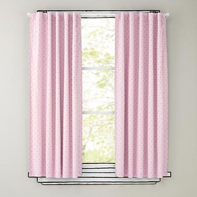 "84"" Pink Polka Dot Curtain Panels"