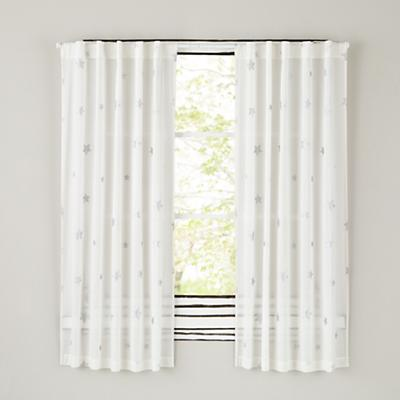 Silver Star Curtain Panels