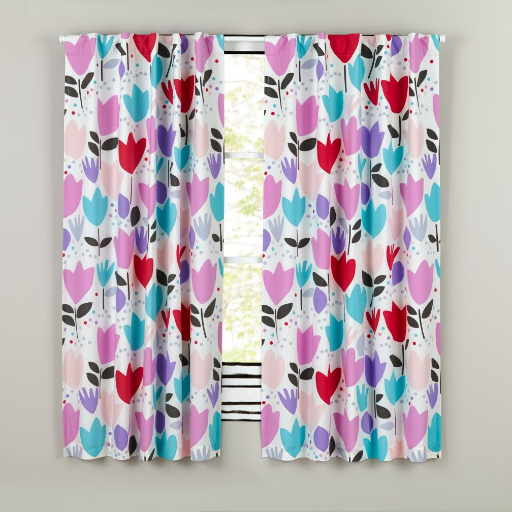 "96"" Tulip Festival Blackout Curtains"