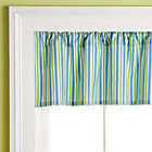 Blue Zoo Stripe Valance