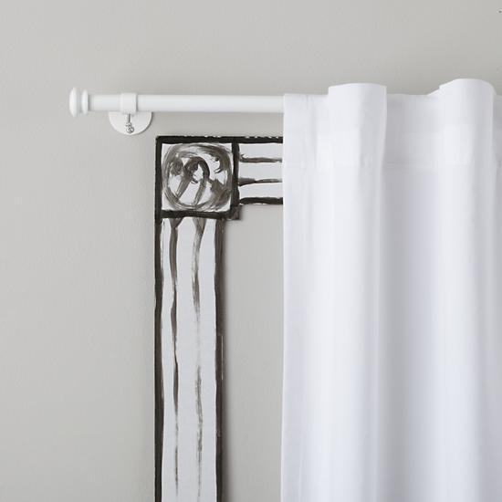 curtain accessories white button cap single curtain rod