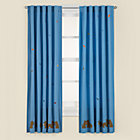 "84"" Blue Squirrel Curtain Panel(Sold individually)"