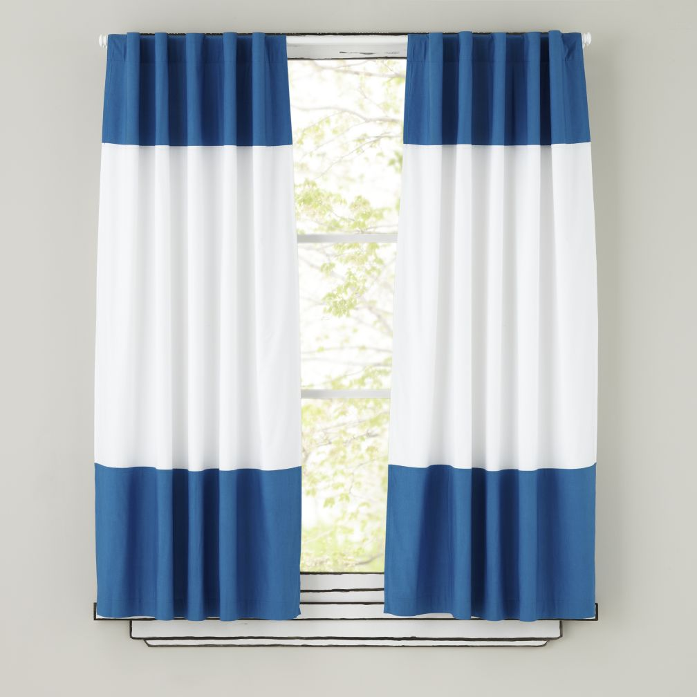 63&quot; Color Edge Curtain Panel (Blue)