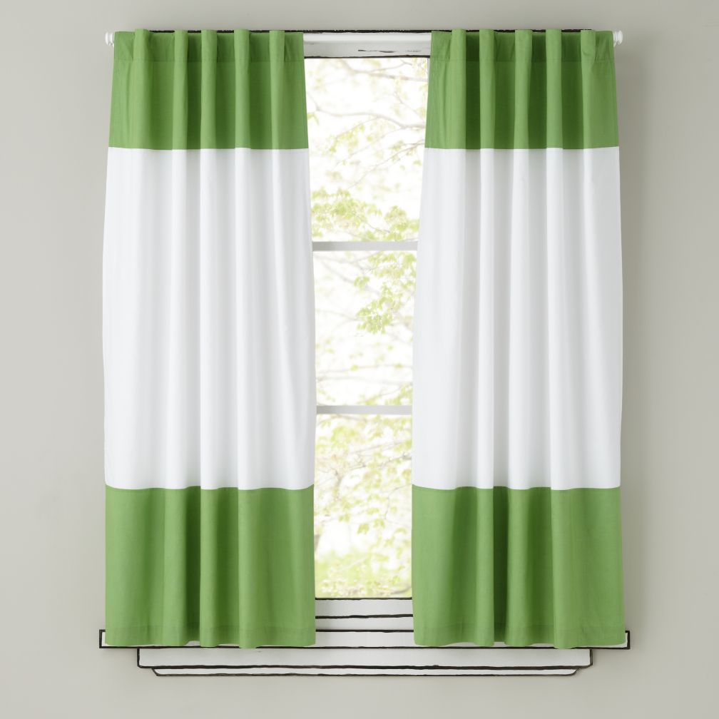 "63"" Color Edge Curtain Panel (Green)"