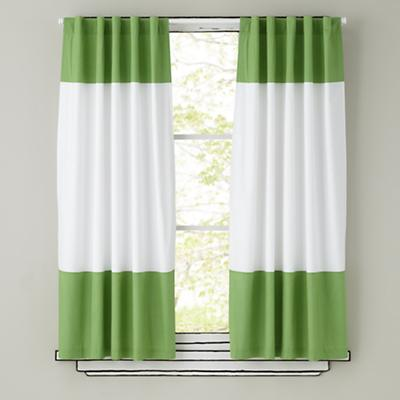 "84"" Color Edge Curtain Panel (Green)"