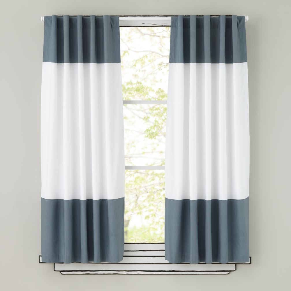 63&quot; Color Edge Curtain Panel (Grey)