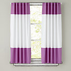 "84"" Purple Color Edge Curtain Panel (Sold individually)"
