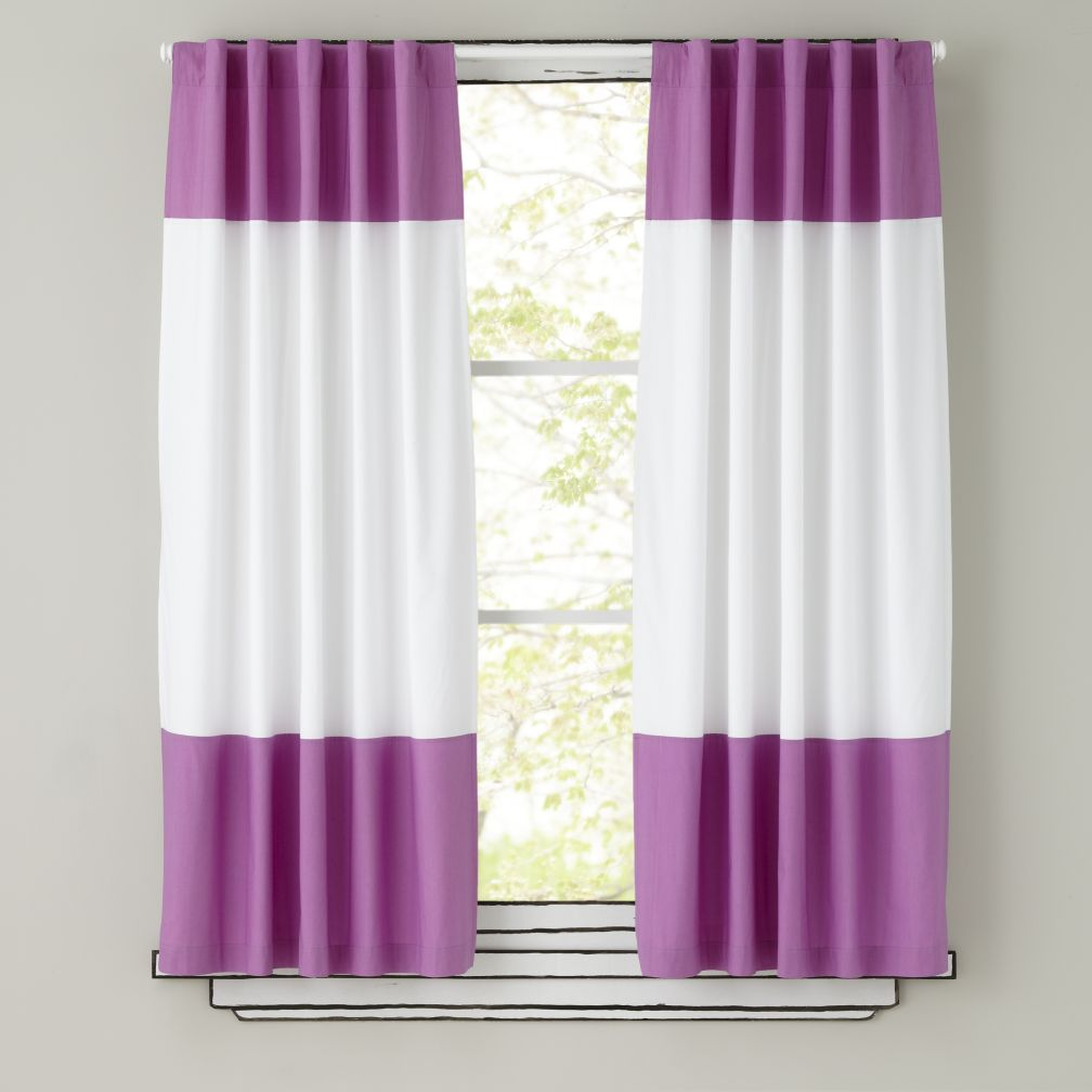 63&quot; Color Edge Curtain Panel (Purple)