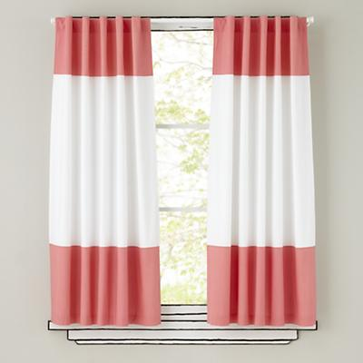 "63"" Color Edge Curtain Panel (Pink)"