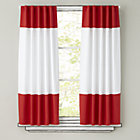 "63"" Red Color Edge Curtain Panel (Sold Individually)"