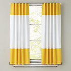 63&amp;quot;  Yellow Color Edge Curtain Panel (Sold Individually)