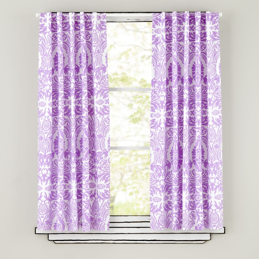 "63"" Sleep Patterns Curtain Panels (Lavender)"