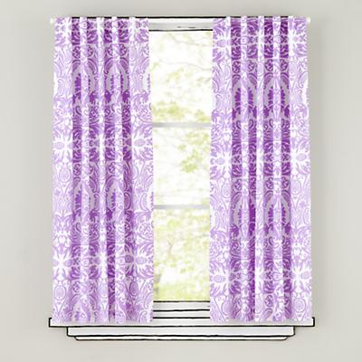 "63"" Sleep Patterns Curtain Panels (Lavender)"