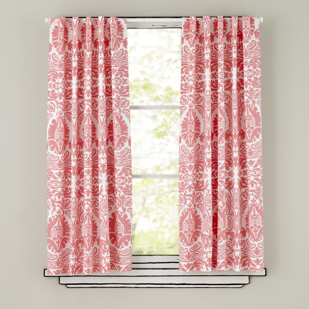 "63"" Sleep Patterns Curtain Panels (Pink)"