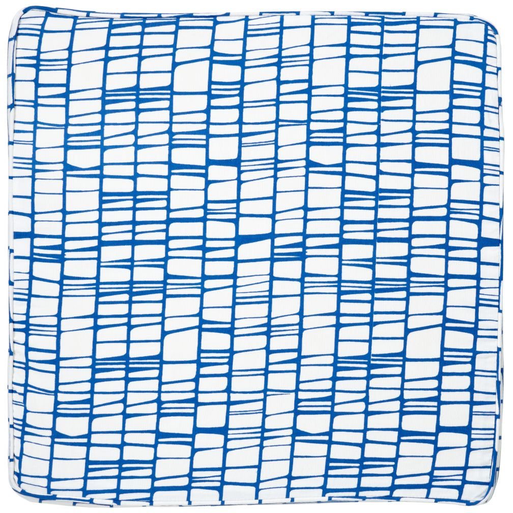Modern 1-Cube Bench Cushion (Blue)