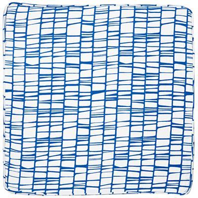 Modern 1-Cube Bench Cushion (Blue)
