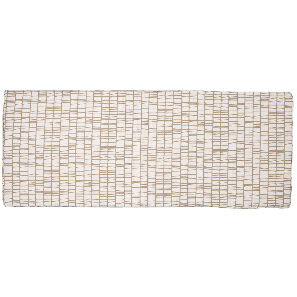 Modern 3-Cube Bench Cushion (Khaki)