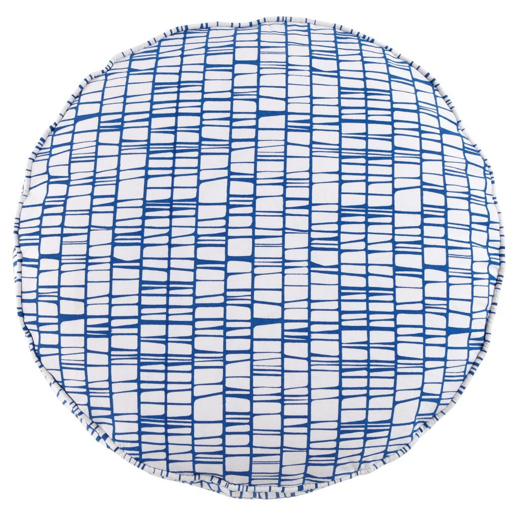 32&quot; Blue Modern Cushion