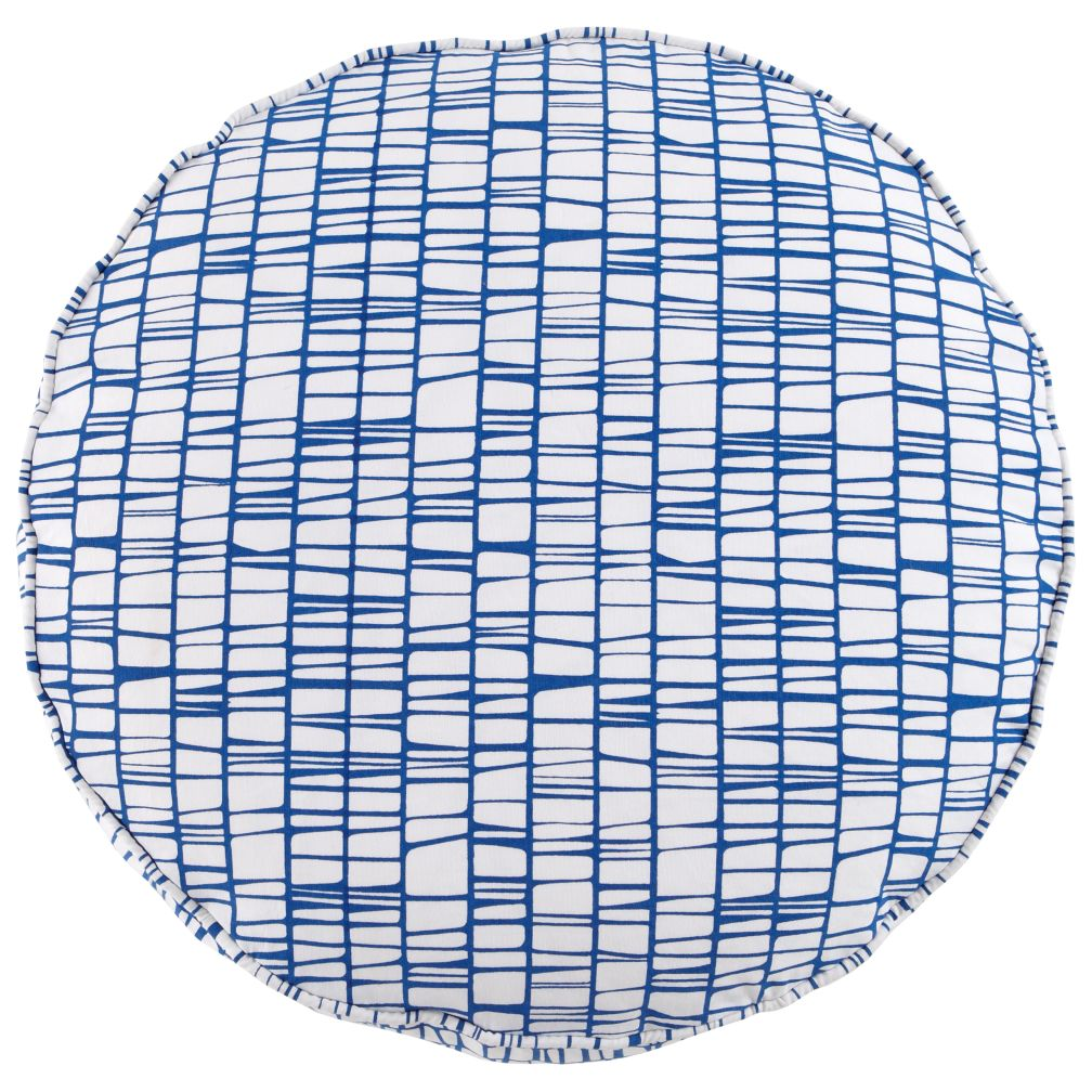27&quot; Blue Modern Cushion