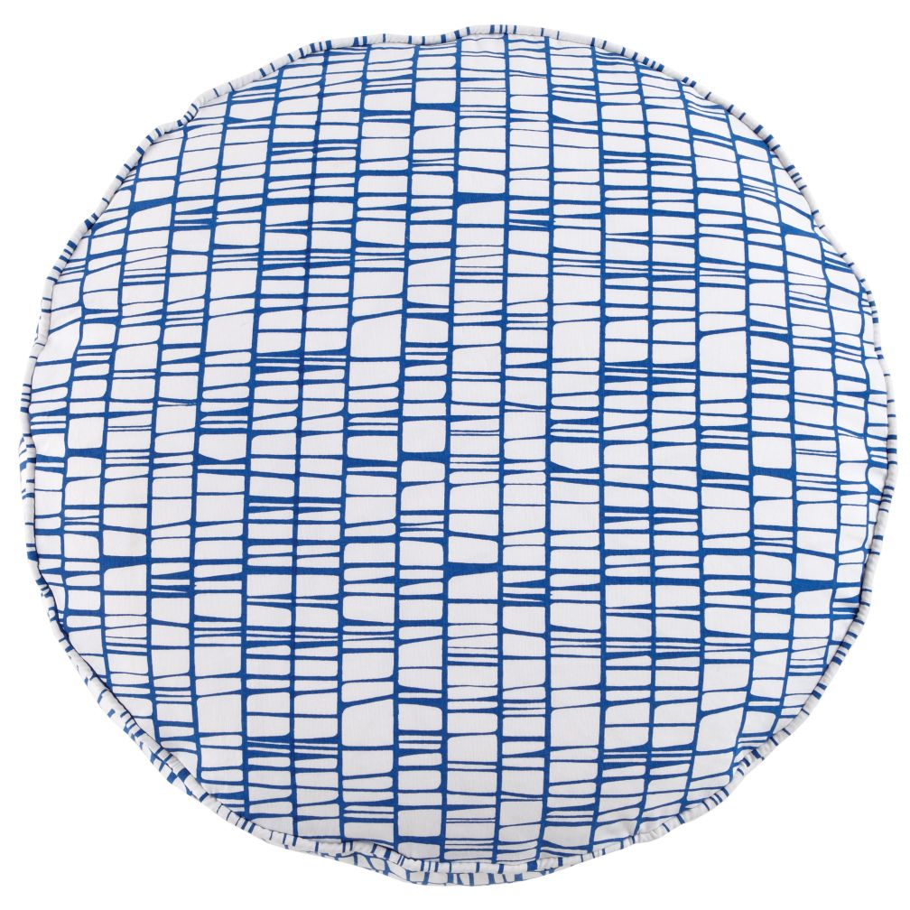 "22"" Blue Modern Cushion"